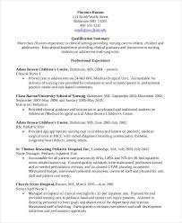Student Resume Sample Pdf by Nursing Resume Examples Best Resume Collection