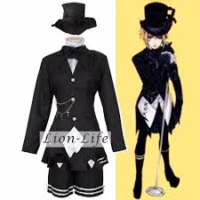 Halloween Butler Costume Compare Prices Kuroshitsuji Cosplay Costume Shopping