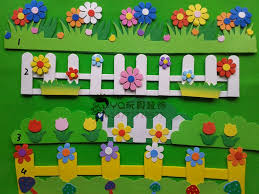 nursery decoration 3d wicket wall stickers kid classroom