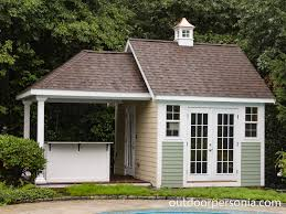 pool houses baystate outdoor personia this poolhouse is personalized with multi color siding exterior attached covered bar area plus inside sitting area with cupola accent