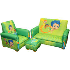 sofa chair for kids nickelodeon bubble guppies fintastic toddler 3 piece sofa chair