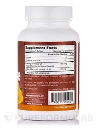 Evening Primrose Oil For Hair Loss Primrose 1300 Mg 60 Softgels