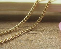 fine gold chain necklace images Fine gold chain etsy jpg