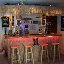 bamboo home bar with small size but large decor concept for
