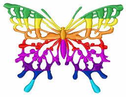 butterfly colors embroidery design embroidery