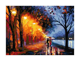 pattern art pdf couple walking in the rain fine art pdf cross stitch pattern