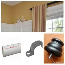a few ways to fake window treatments diy curtain rods diy