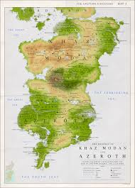 Stormwind Map Detailed Map Of Khaz Modan And Azeroth By Kuusinen On Deviantart