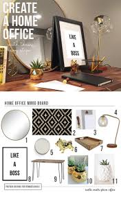 remodelaholic create the perfect home office from mood board