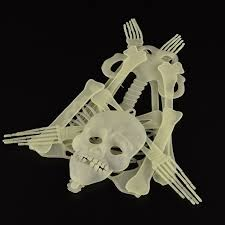 Scary Halloween Props Online Shop Horror Luminous Movable Skull Skeleton Halloween Props