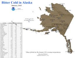Cordova Alaska Map by National Climate Report January 2012 State Of The Climate