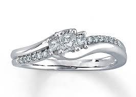 kay jewelers rings engagement rings diamond engagement ring 1 3 ct tw princess cut