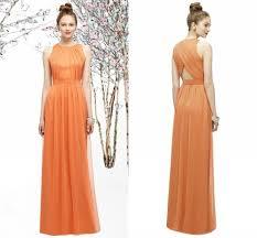 popular long coral plus size bridesmaid dress buy cheap long coral
