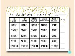 bridal shower question gold confetti jeopardy bridal shower magical printable
