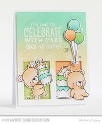 beary special birthday stamp set and die namics gift box cover up