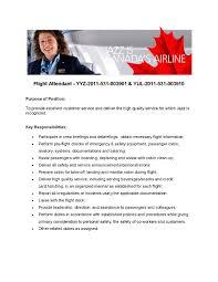 Flight Attendant Resume Example Bus Attendant Cover Letter