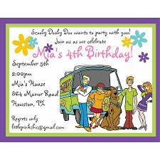 scooby doo birthday invitations marialonghi