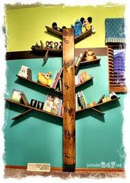 How To Make Tree Bookshelf The Perfect Place For Space And A Decrative Too Diy Tree Shelf