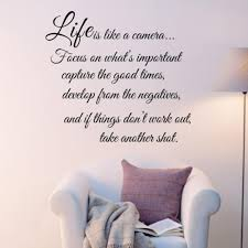 quality life is like a camera quote words art vinyl wall sticker