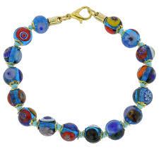 bracelet murano images Murano bracelets murano mosaic bracelet transparent blue jpg
