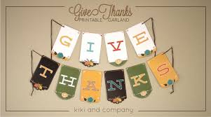 thanksgiving printable wreath and garland company