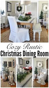 Christmas Dining Room Decorations - simple rustic christmas dining room decor liz marie blog