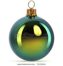 New Years Eve Hanging Decorations by 3d Rendering Christmas Ball Decoration Green Stock Illustration