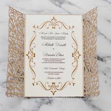 laser cut wedding programs this royal looking gold laser cut wedding invitation is