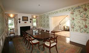 Chinoiserie Dining Room by Traditional Dining Room With Crown Molding U0026 Interior Wallpaper In