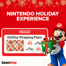 mario wrapping paper gamestop on stop by select stores to take part in the