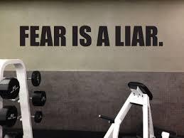 fitness motivational decal fear is a liar home gym vinyl