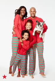 click to shop festive matching pajamas for the whole family at