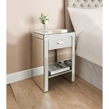 bedside table florence mirrored bedside table bedroom furniture b m