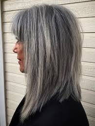 hairstyles with grey streaks 60 gorgeous hairstyles for gray hair