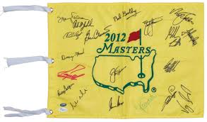 Masters Flag Lot Detail Masters Winners Multi Signed 2012 Masters Flag With
