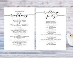 ceremony program templates wedding program templates ceremony program template two