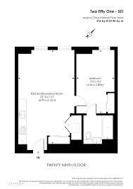 purpose of floor plan 1 bed flat for sale in 251 building southwark bridge road london
