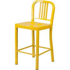 Modern Metal Outdoor Furniture Style Modern Metal Bar Stool In Yellow Color Sb805y
