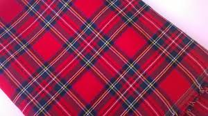red tartan fabric red plaid fabric royal stewart by the