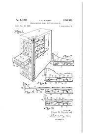 patent us2842419 filing cabinet drawer locking mechanism