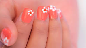 easy flower nail art for beginners youtube