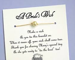 bridal shower wish garden party a s wish wish bracelet bridal