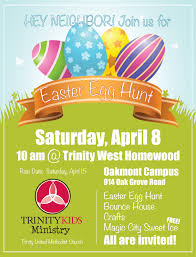 easter egg hunt trinity united methodist church