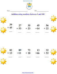addition using numbers between 1 and 100 kids activities