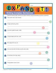 stretch a sentence free writing worksheet download my classroom