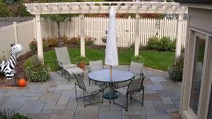 Flagstone Patio With Pergola Secret Garden Landscapes Portfolio