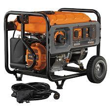 generac 6672 rs5500 5 500 watt gas powered rapid start portable