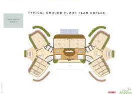 3bhk typical ground floor plan duplex bptp park arena sector 80