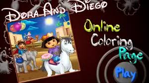 color with dora game online swiper painting games dora