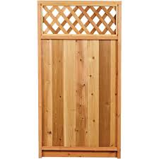 1 3 8 in 4 ft x 8 ft redwood privacy framed lattice 01266 the